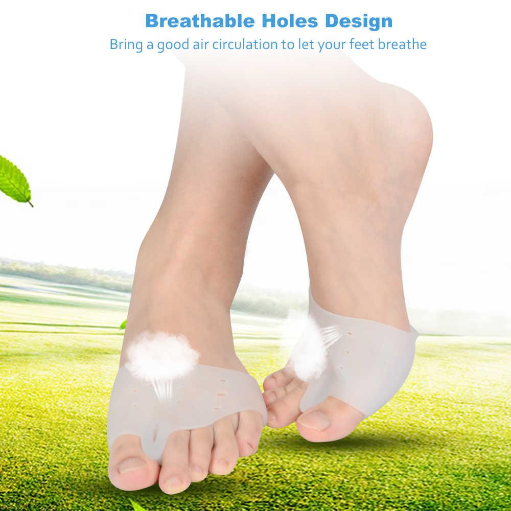 Gel Demine Silicone Hallux Valgus semelles orthopédiques séparateur d'orteils coussin de Correction des orteils talon avant-pied appliquer aux Inserts Bunonia