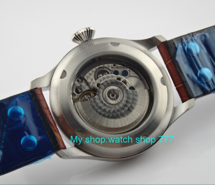 47 millimetri PARNIS Automatico auto ricarica movimento orologi da uomo big pilot quadrante di Alta qualità Della Vigilanza del commercio all'ingrosso x00014a-in Orologi meccanici da Orologi da polso su  Gruppo 3