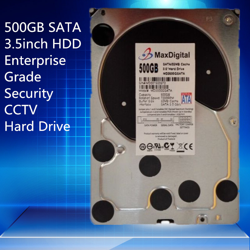 500GB SATA 3 5 Enterprise Grade Security CCTV Hard Drive Warranty for 1 year
