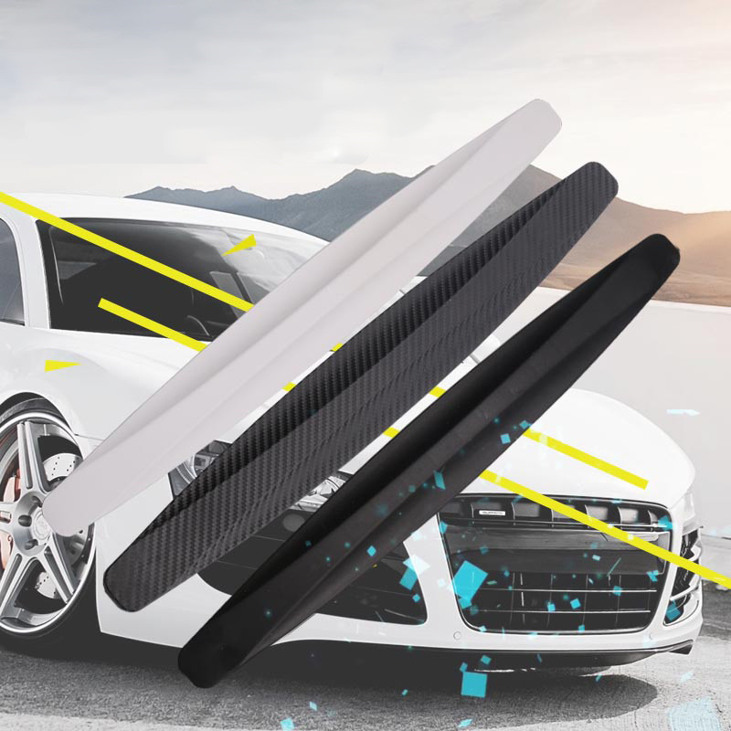 4pcs Black New Universal Fit Front&Rear Bumper Protector Corner Guard Scratch Sticker