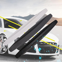 4pcs Black New Universal Fit Front&Rear Bumper Protector Corner Guard Scratch Sticker 1pair front rear bumper protector corner guard scratch sticker car styling stickers carbon fiber free shipping black white gray