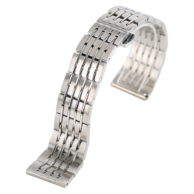 Solid Link Fashion 20mm/22mm/24mm Replacement Rose Gold + 2 Spring Bars Stainless Steel  Adjustable  Watch Band Strap m1 5 8 25mm 1pcs watch band spring bars strap link pins repair tool watchmaker stainless steel watch accessories kit set