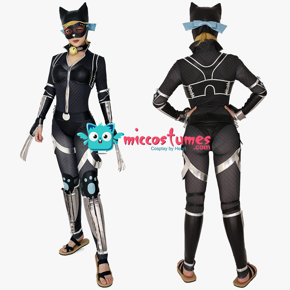 Cat woman Ninja Cat Ninja Selina Kyle Cosplay Costume Jumpsuit