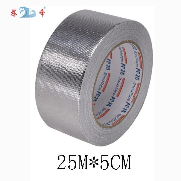 Vải sợi thủy tinh nhôm lá mỏng băng lá thiếc nhiệt độ cao khả năng chịu nước thông gió mui xe dấu ống