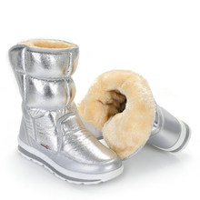 0cfa5d8e5 Silver Winter Boots Buffie Brand Quality Women Snow Boots fake fur insole  Lady Warm Shoes Girl