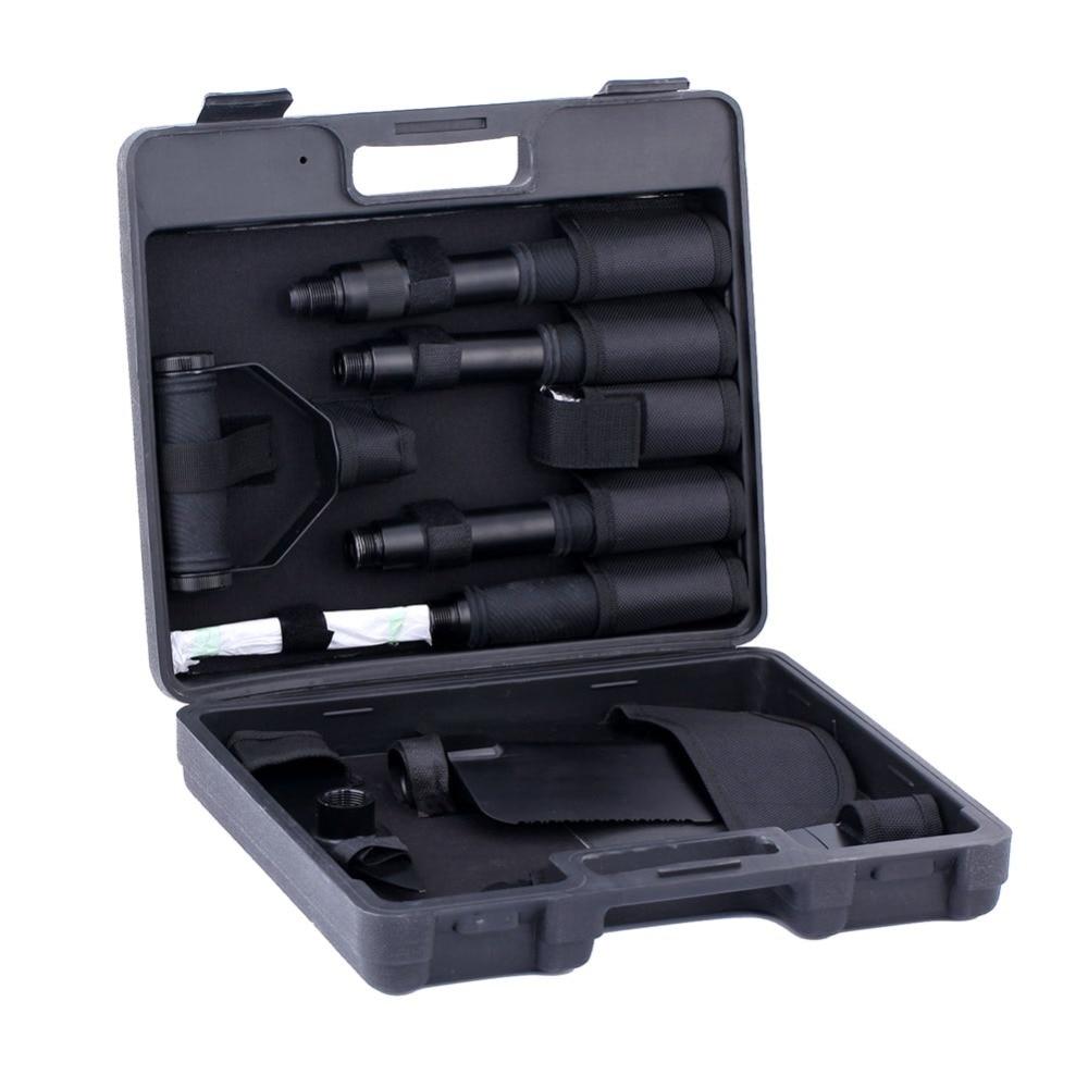 KingCamp Multi function shovels Folding Spade Serrated Edge Telescopic handles emergency Tools Super Portable Tool Bag