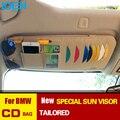 Estilo do carro Pala de Sol Organizador Bag Bolsa Cartão CD Óculos de telefone suporte multi-propósito saco de armazenamento para bmw e36 e39 e46 f10 f30 X5