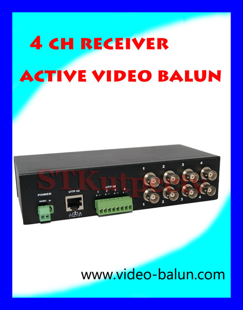free shipping   4 channel  ACTIVE  video balun factory manufacture
