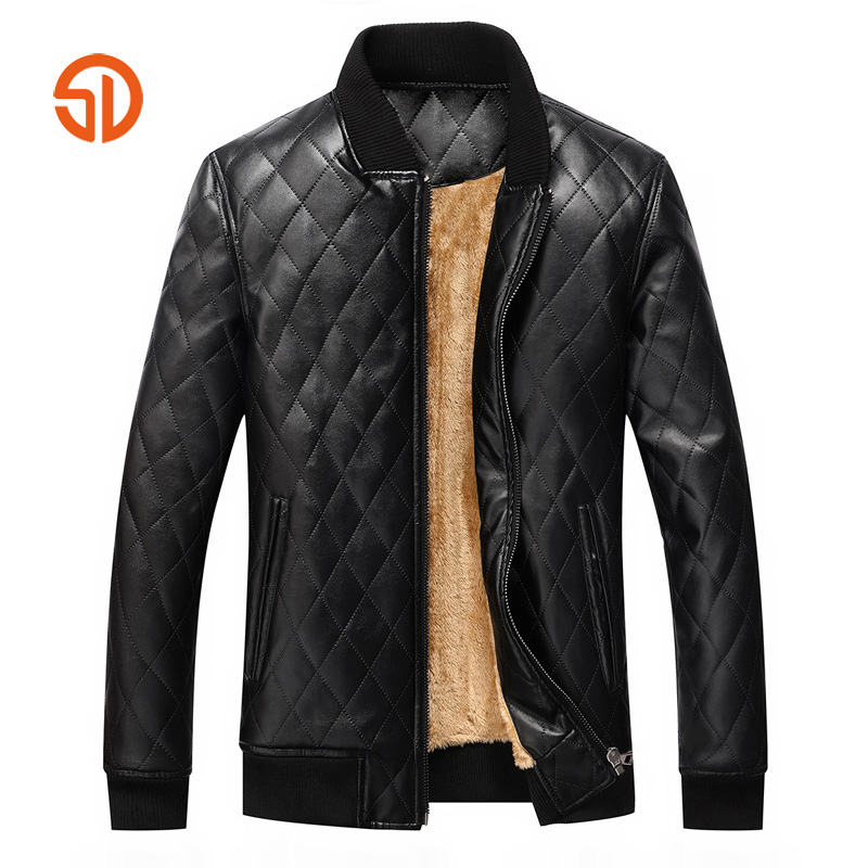 Winter Leather Bomber Jacket Mens Fashion Wash Men's Pu ...