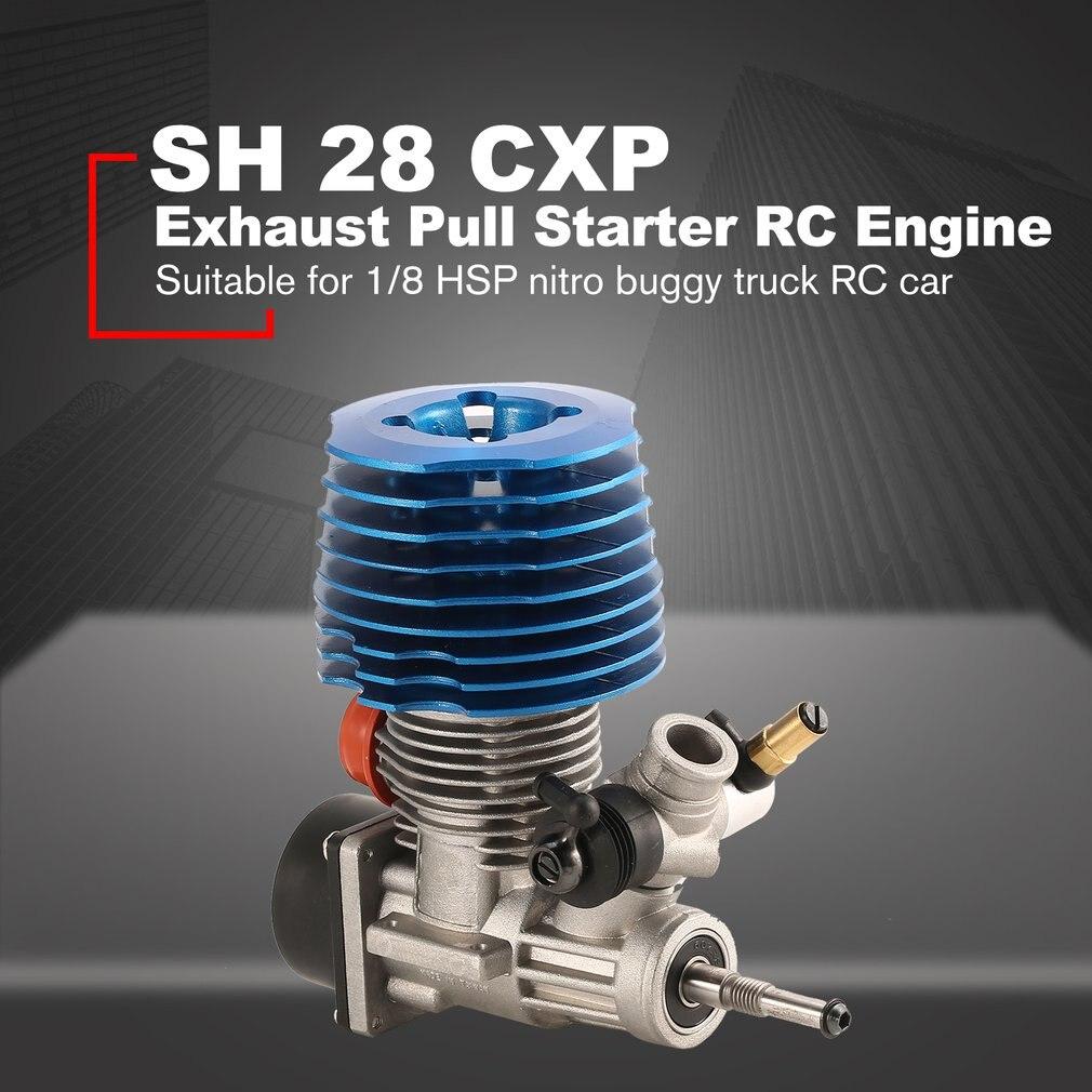 HSP RC автомобилей 1: 8 багги Монстр Truggy Nitro двигателя SH 28 CXP двигатель M28-P3 4.57CC 3.8hp 33000 об./мин. сбоку выхлопных газов тянуть стартер часть