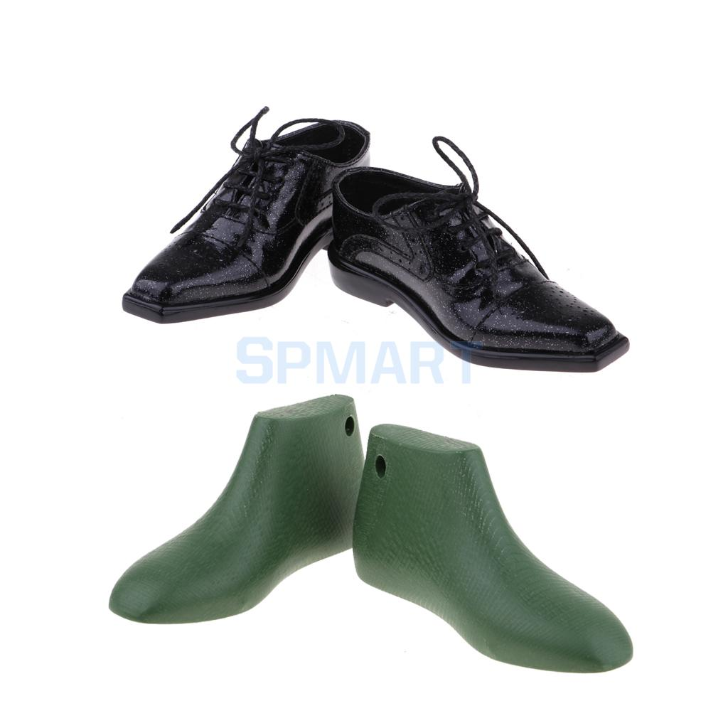 1/3 BJD Uncle Doll Black Leather Shoes & Last for Shaping Shoes Last Set for DOD for DOI Hound DIY Making Accessories making six sigma last