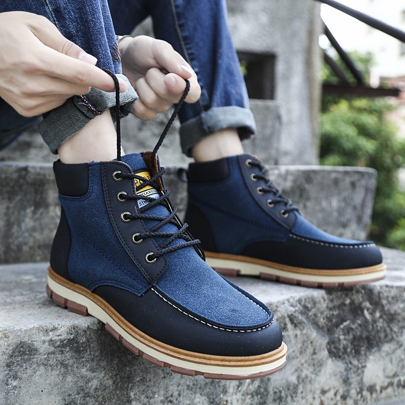 Brun Noir La Hommes Thestron Shoes Plus Cuir Shoes Taille Mode Bleu Casual De Wainter Bottes Shoes brown 45 2018 blue Automne Qualité 46 Créateur Black En XaqwwUx