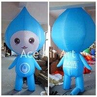 Надувная Рекламная деталь синие надувные капли мальчик со слезами для защиты водных ресурсов на День Земли