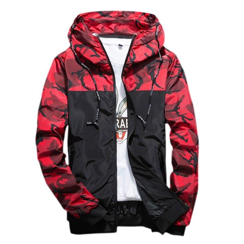 3 colores primavera otoño hombre estilo coreano chaqueta con capucha delgada Chaquetas hombres poliéster costilla manga casual chaqueta
