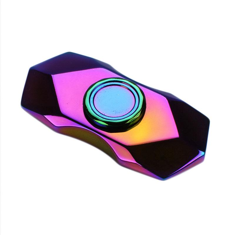 New Arrival Rainbow Fidget Spinner EDC Hand Finger Spinner Metal Tri-Spinner for Autism and ADHD Focus Relief Stress Gift Toy pudcoco metal boys girls rainbow fidget hand finger spinner focus edc bearing stress toys kids adults