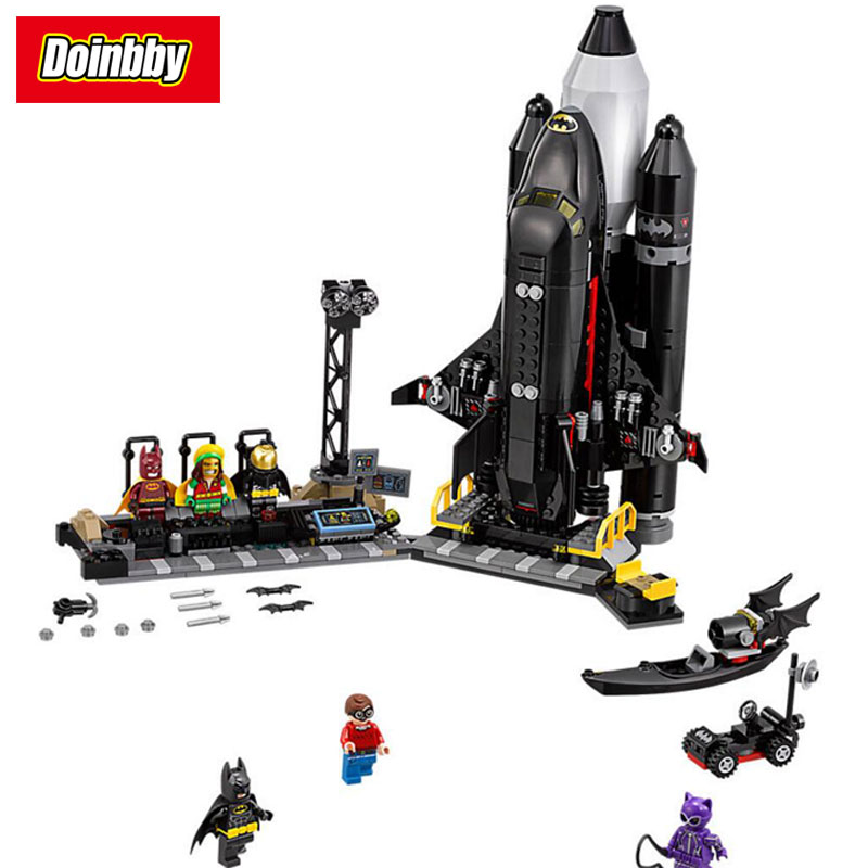 DC Super Heroes Batman Movie The Bat-Space Shuttle Building Bricks Blocks Toys Compatible with Legoings Batman 70923 moc 1128pcs the batman movie bane s nuclear boom truck super heroes building blocks bricks kids toys gifts not include minifig