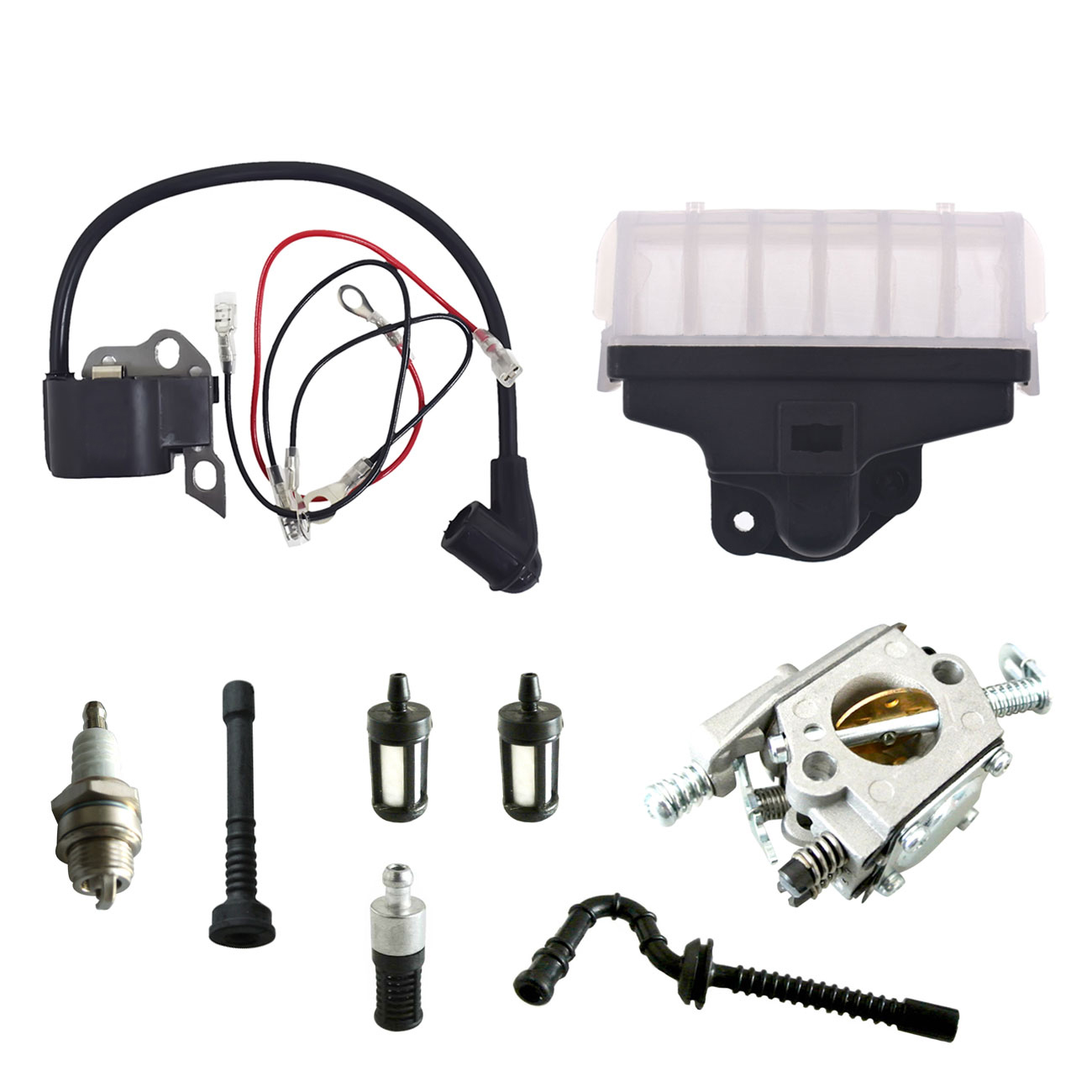 Image 2 - Ignition Coil Carburetor Kit Spark Plug For STIHL Chainsaw 021 023 025 MS210 MS230 MS250-in Chainsaws from Tools