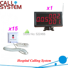 Nurse Calling System for hospital patients with 15 calling buttons and 1 number monitor