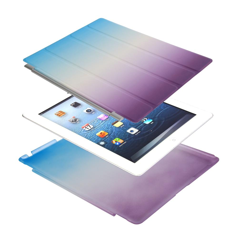 Case For Ipad 2 Ipad 3 Ipad 4 Separate PU Leather Slim Magnetic Smart Auto Sleep Wake Cover Skin+Hard PC Back Case