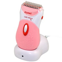 Kemei washable Electric shaver Hair clipper Epilator Razor for women lady body care cutting tools hair removal trimmer shaving