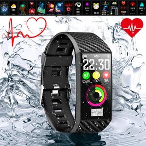 Image 4 - VTIN DT58 смарт браслет ЭКГ PPG спортивные Смарт часы IP68 Водонепроницаемые пульсометр кровяное давление часы спортивный браслет