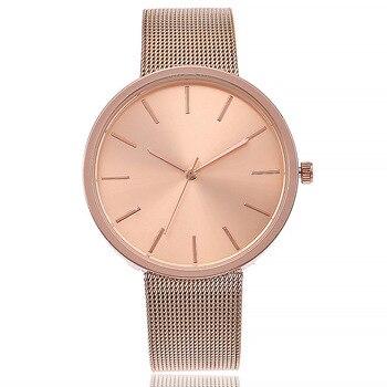 Rose Gold Color Net Strap Wrist Watch