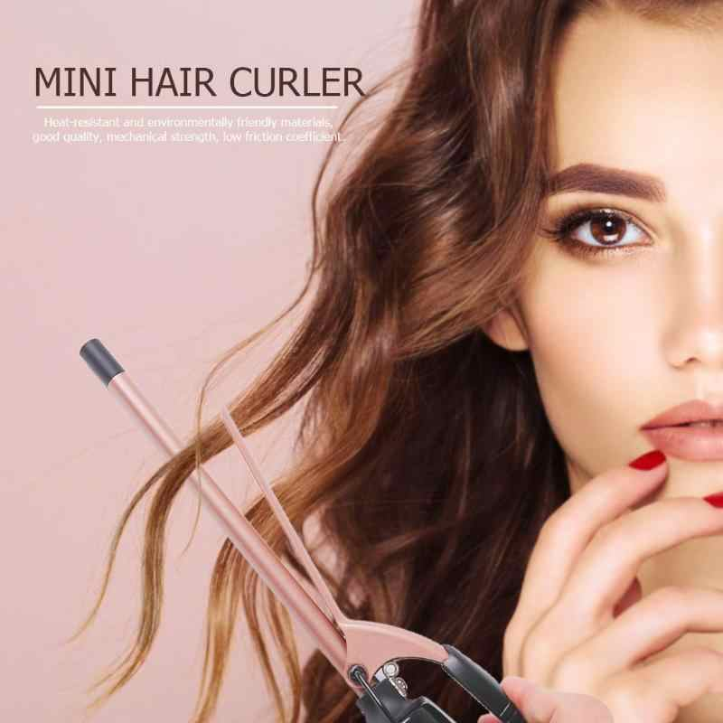 Mini Profesional Rambut Curling Iron Electric Rambut Atlet Curling Putra Roller Wave Curling Wand Hairdressing Styling Alat Kualitas Tinggi