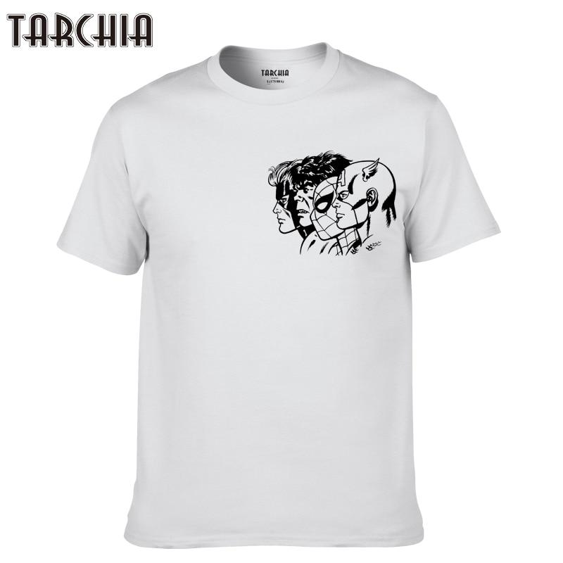 TARCHIA 2019 new t-shirt cotton tops tee men funny brand The Avengers short sleeve boy casua fashion homme tshirt t plus