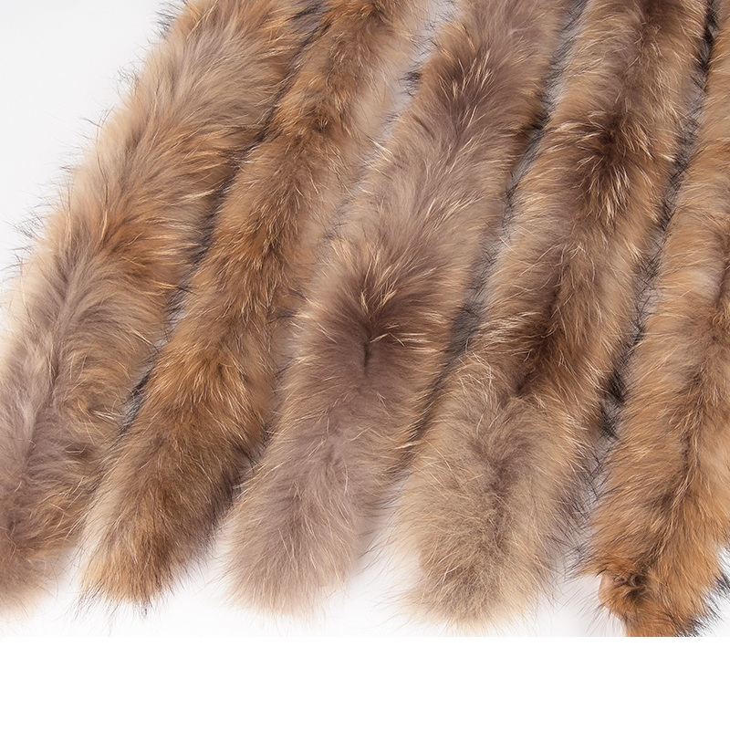 70cm Winter Real Natural Raccoon Fur Hood Collar ,High-quality Raccoon Fur Fashion Coat Collar Cap Collar