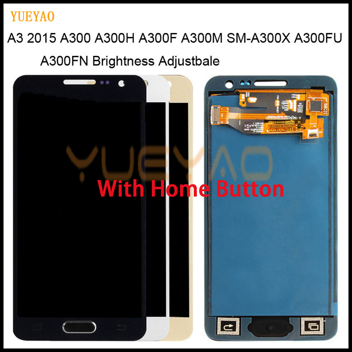 LCD Lcd-Display Touch-Screen A300M Samsung Galaxy Assembly Digitizer for