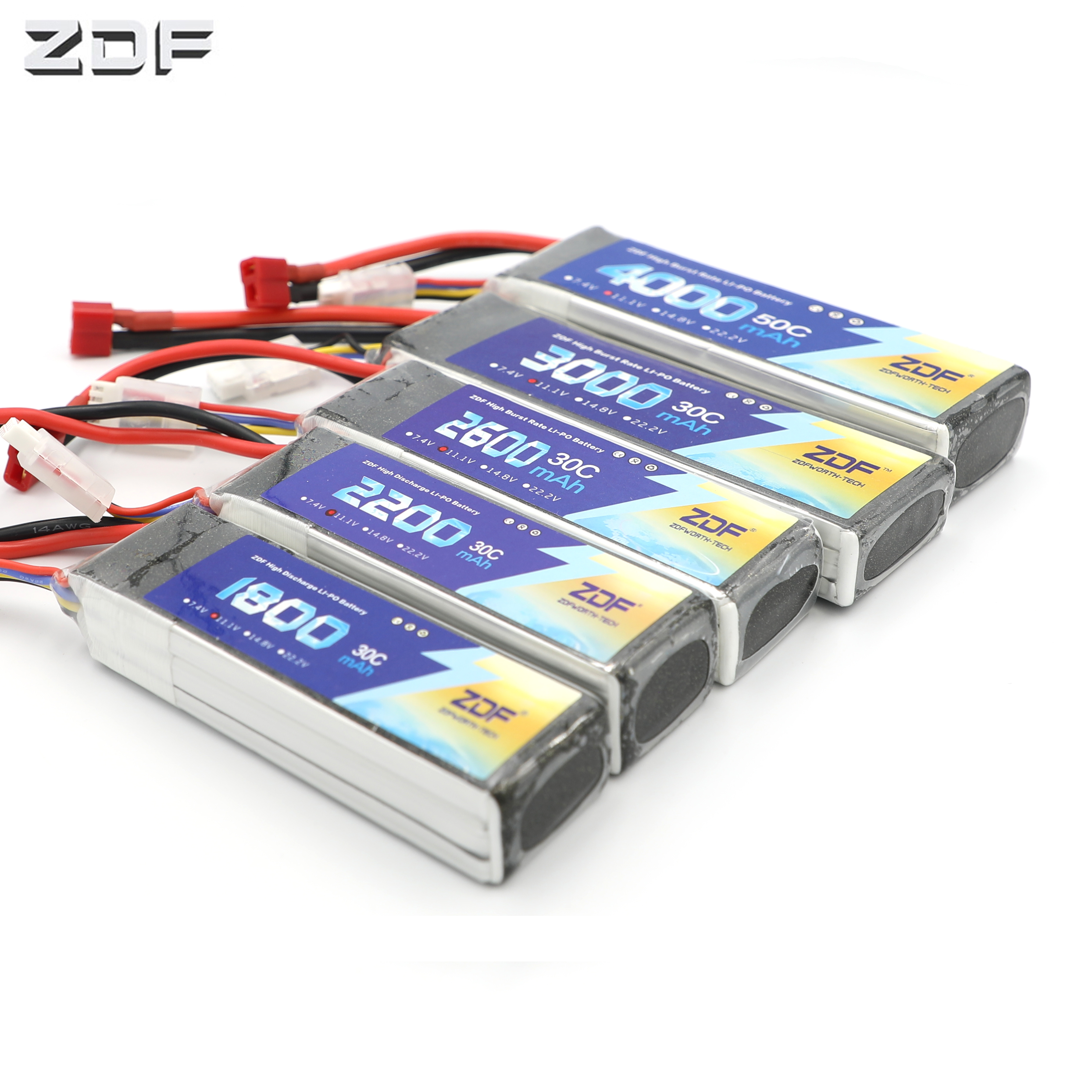 <font><b>3S</b></font> RC <font><b>LiPo</b></font> <font><b>battery</b></font> <font><b>3S</b></font> 11.1V 1800mAh 2200mAh 2600mAh 3000mAh 4000mAh 5000mAh <font><b>6000mAh</b></font> 30C 50C For RC Quadrotor Helicopter Drone image