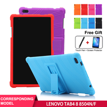 SZOXBY For Lenovo TAB4 Tablet Case TB-8504N/F Silicone 8 Inch PC Anti-Fall Shell Bracket Hockproof Shockproof