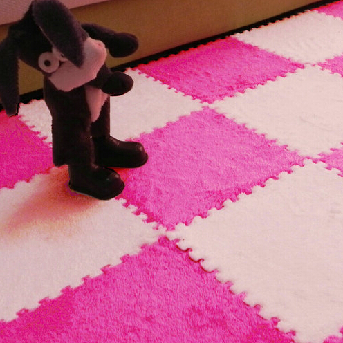 Fur Hair Puzzle Eva Foam Floor Mat