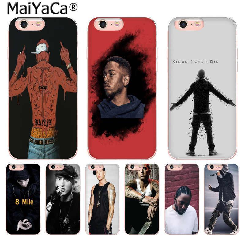 c7ac1235db0 MaiYaCa Hip Hop Rapper Eminem rap Cute Phone Accessories Case for Apple iPhone  8 7 6
