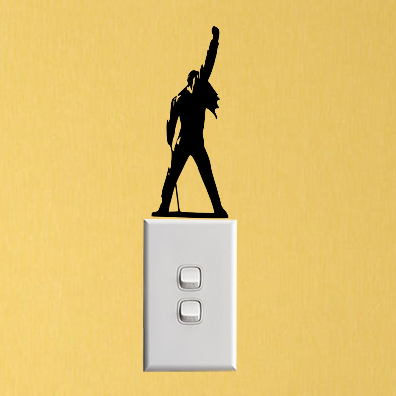 Freddie Mercury Fashion Home Decor Accessories Vinyl Wall Sticker Switch Decal 6SS0174