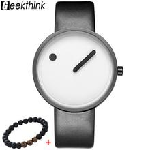 4aa3c73619b734 GEEKTHINK Top luksusowy Marka zegarek Kwarcowy mężczyźni Luksusowe Casual  Czarny Japonia quartz-watch Proste Kreatywny