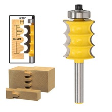 3 Grooves 1/4 Shrank Woodworking Router Bit Milling Cutter Trimming Engraving Carpentry Machine