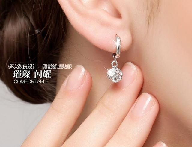 925 Sterling-silver-jewelry Crystal Ball AAA CZ Z Stud Earrings For Women Earings Sterling Silver Jewelry VES6085 4