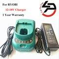 Substituição Carregador de Bateria Furadeira sem fio Para RYOBI ABP1801 ABP1803 PS120 NI-NH Bateria de Iões de lítio P104 P108 Ni-Cd 12-18 V Carregador