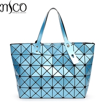 2017 Japan Stil Falten Lucent Prism Rock Tote Handtasche 9 Farben Luxus Holographische Laser Frauen Shopper Bao Umhängetaschen