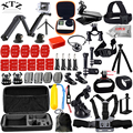 DSDACTION gopro hero 5 4 3 2 accessories set for go proThree way selfie stick EVA case for Eken h9r xiaomi yi 13J