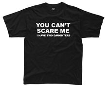 YOU CANT SCARE ME Mens T-Shirt S-3XL Black Funny Printed Joke Top Gift Kids New T Shirts Tops Tee free shipping