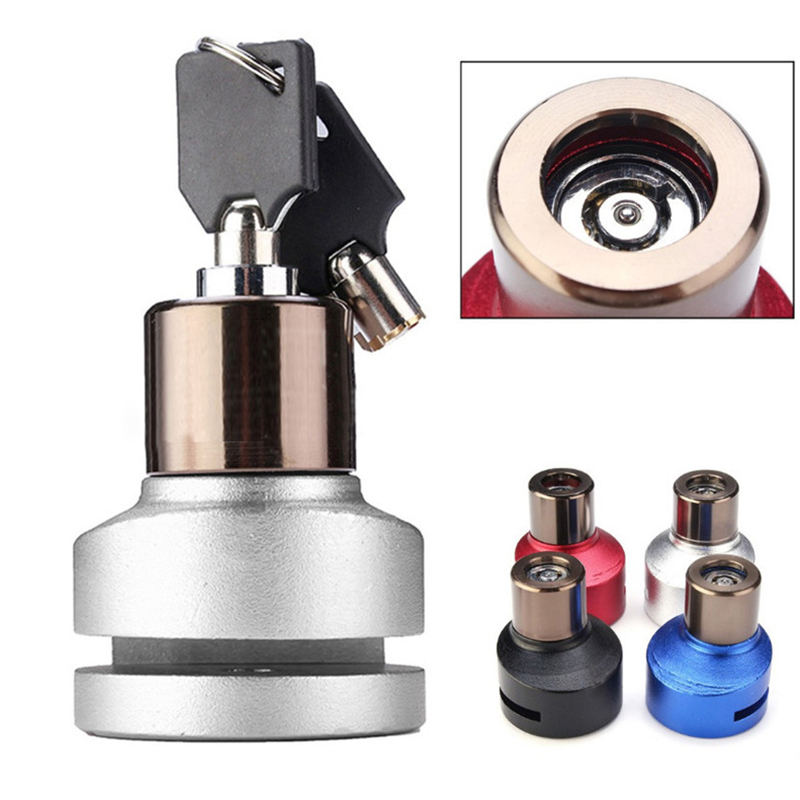 Motorcycle Disc Brake Lock Anti-Theft Safety Alarm Brake Lock Universal  Scooter Bicycle Moto Accessories Red Black Blue Silver free shipping universal chain lock for motorcycle lock bicycle lock