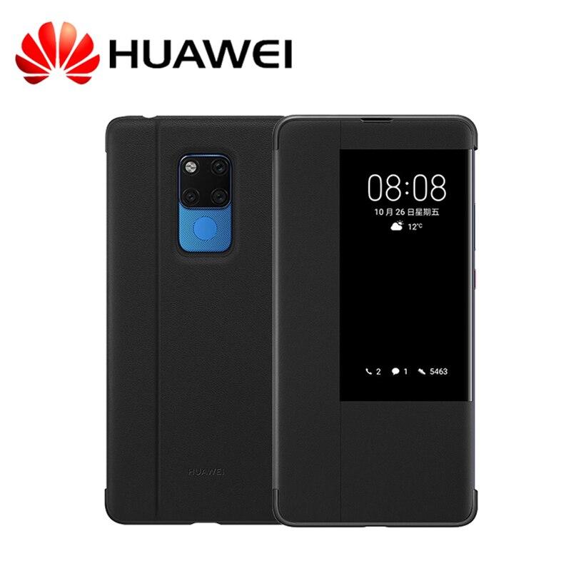 D'origine Huawei Compagnon 20 Pro Cas Officiel Smart réveil Sommeil PU Fenêtre En Cuir Flip Cas de Couverture Pour Huawei Compagnon 20 Mate20 Pro