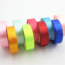 25mm 25 Meters Multicolor Silk Organza Satin Polyester Ribbon For Wedding Party Sewing Decoration Crafts Gift Packaging Webbing  недорого