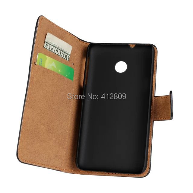 Fashion Genuine Leather Folding Wallet Pouch Skin Cover Case for Huawei Ascend Y330 with ID Credit Card Holder Cellphone Bags