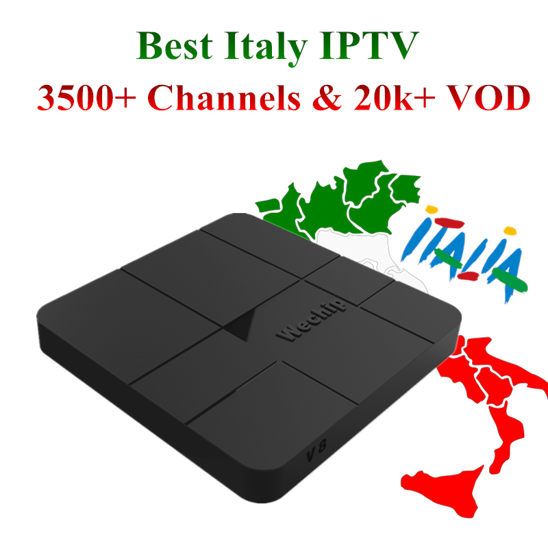 New Wechip V8 1GB 8GB Amlogic S905W Android TV Box 1 year Italy IPTV 3500 Channels