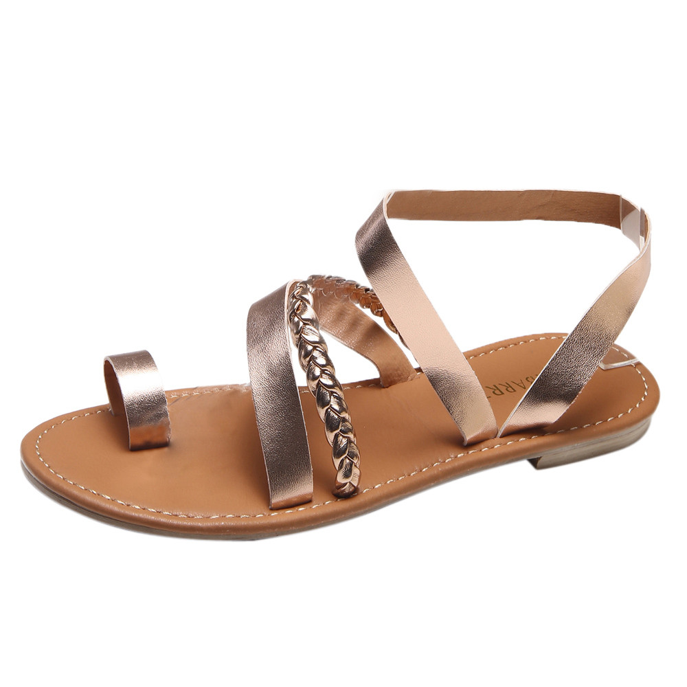 xiniu Women Summer Strappy Gladiator Low Flat Heel Flip Flops Beach Sandals Shoes Wedge Sandals 2018 new summer fashion slippers xiuningyan horsehair sandals women flat heel sandals fashion summer low heel shoes woman sandals summer plus size free shipping