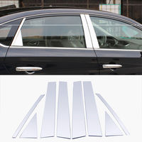 BBQ@FUKA Fit For 2013 2017 Nissan Sentra Car Window Pillar Post Cover Trim Accent Chrome Styling Sticker