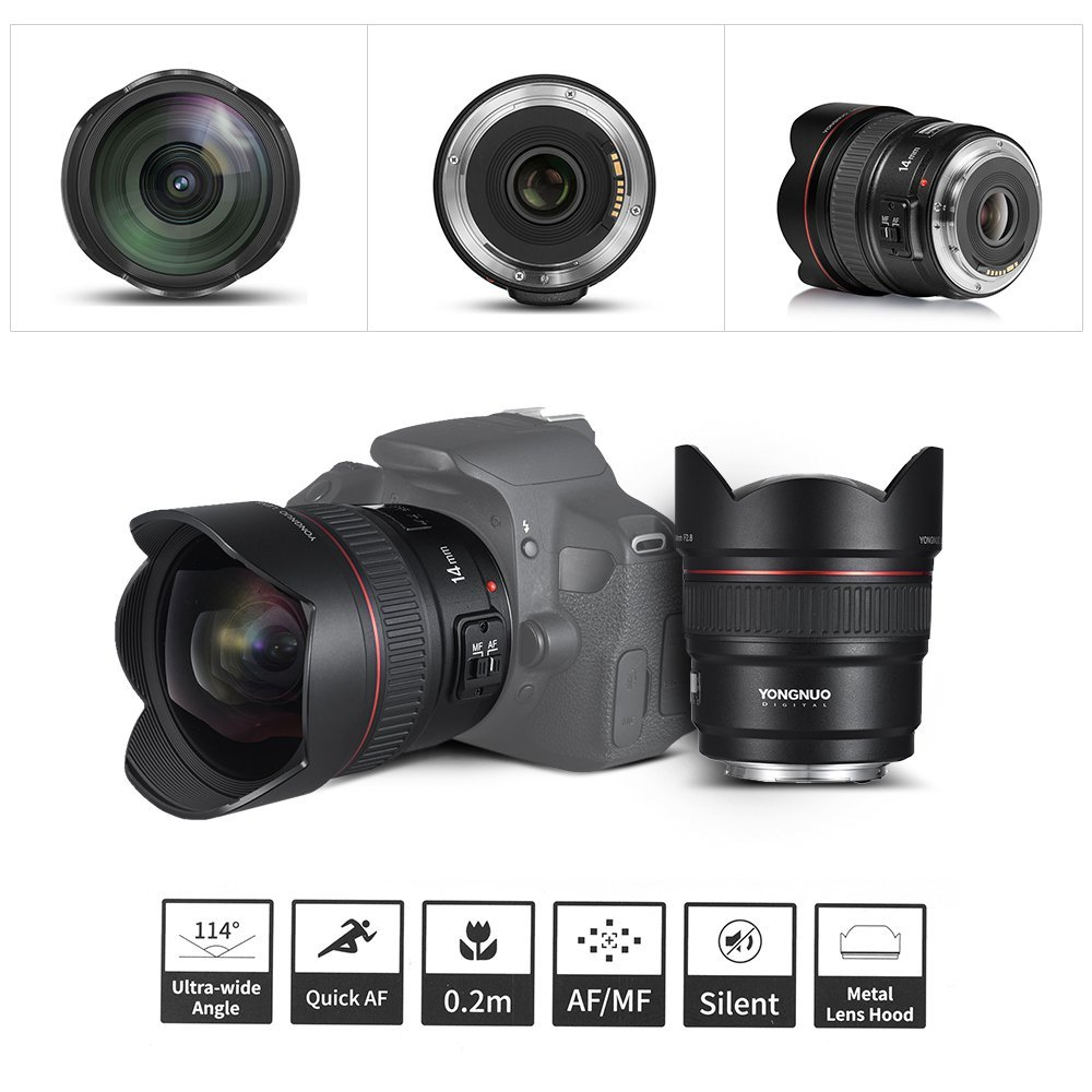 Yongnuo 14mm F28 Ultra Wide Angle Prime Lens Yn14mm Auto Focus Af Camera Diagram Labeled Nikon J1 V1 Mirrorless Interchangeable Sl1000 61zfc8soyel